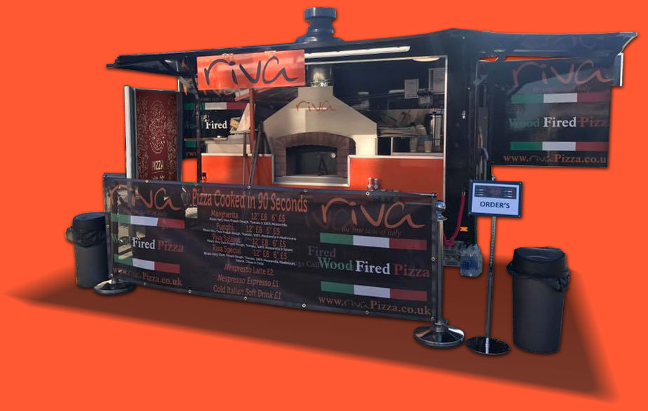 Mobile Wood Fired Pizza Catering Services for weddings events & parties
